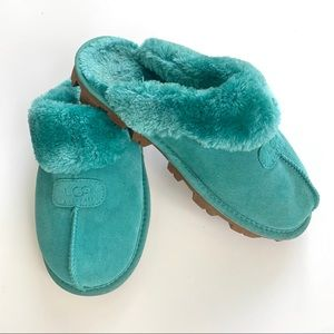 UGG Couquette Suede and Sheepskin Slippers